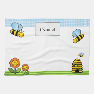 Plate cloth in layout93, line babies hand towel