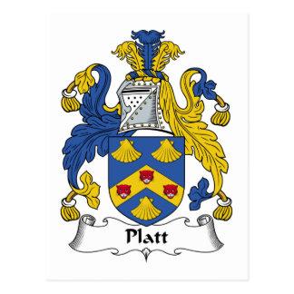 Platt Family Crest Postcard