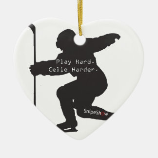 Play Hard. Celie Harder. Ceramic Heart Decoration