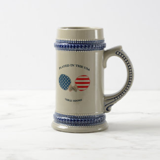Played in USA Table Tennis Beer Steins