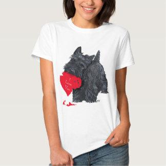 Playful Scottish Terrier Valentine Tshirts