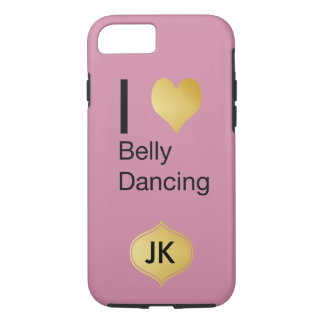 Playfully Elegant I Heart Belly Dancing iPhone 7 Case