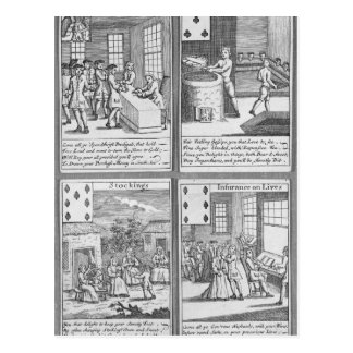 Playing Cards depicting current commercial Postcard