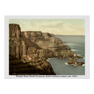 Pleaskin Head, Giants Causeway, Antrim N. Ireland Poster