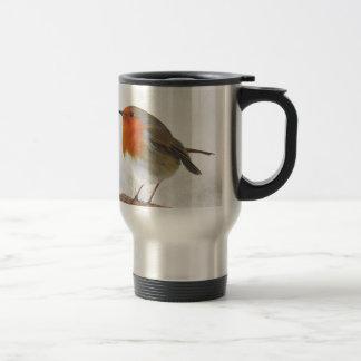 Plump Robin Redbreast Stainless Steel Travel Mug