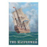 Plymouth, MassachusettsView of the Mayflower Poster