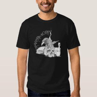 Poe Nevermore Raven Skull & Book Shirt