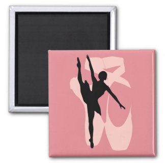 Pointe Ballet Square Magnet