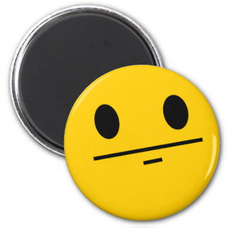 Poker Face Smiley 6 Cm Round Magnet