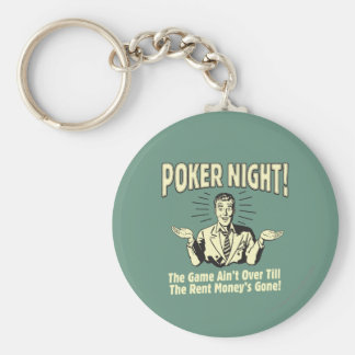 Poker: The Game Ain't Over Basic Round Button Key Ring