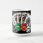 Poker v1 basic white mug