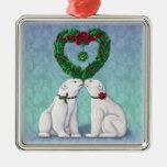 Polar Bear Kiss Ornament