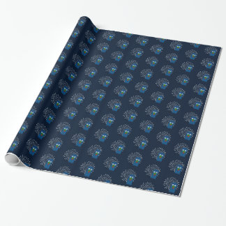 """""""Police Box with Christmas Wreath"""" (Small Pattern) Wrapping Paper"""