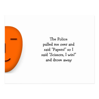 Police Rock Paper Scissors - Send a Smile Postcard