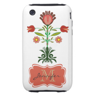 Polish Embroidery Flowers Pattern, iPhone 3 Case