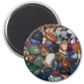 Polished Colorful Stones 6 Cm Round Magnet