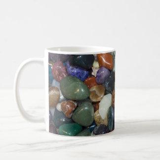 Polished Colorful Stones Basic White Mug