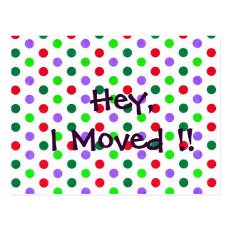 Polka Dot Fun new Home Notifications Postcard