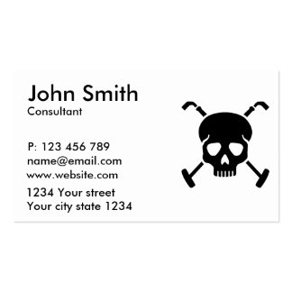 Polo skull pack of standard business cards