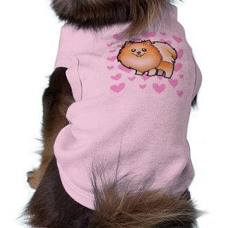 Pomeranian Love Sleeveless Dog Shirt