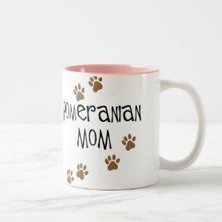 Pomeranian Mom Two-Tone Mug