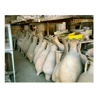 Pompeii, Amphorae from the Pompeii site Postcard