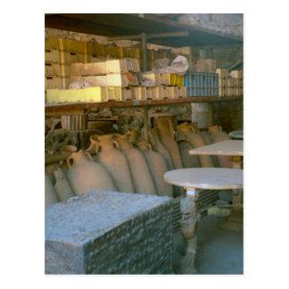 Pompeii, Amphorae storage Postcard