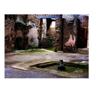 Pompeii - Inner court of ancient Pompeiian house Postcard