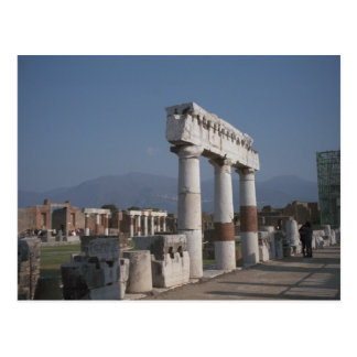 Pompeii, Pillars in the Forum Postcard