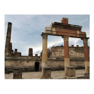 Pompeii - Remaining columns of the Arcade Postcard