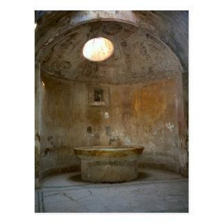 Pompeii, Roman bath house Postcard