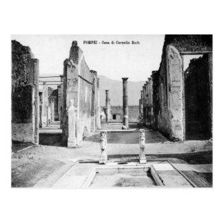 Pompeii, Villa and Vesuvius Postcard