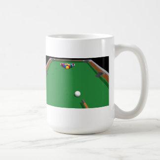 Pool Balls on Table: 3D Model: Basic White Mug