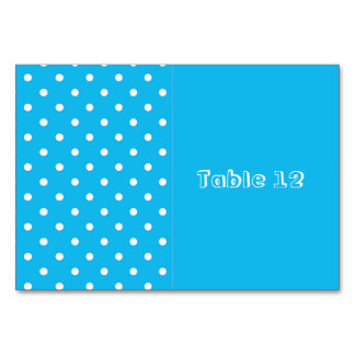 Pool Party Blue Polka Dot Table Cards