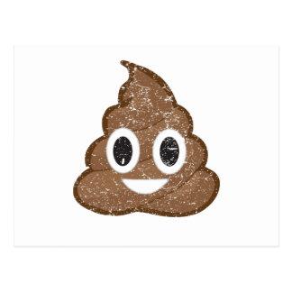 Poop emoji vintage postcard