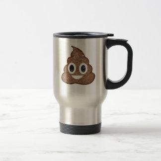 Poop emoji vintage stainless steel travel mug