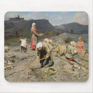 Poor People Gathering Coal Mouse Pad