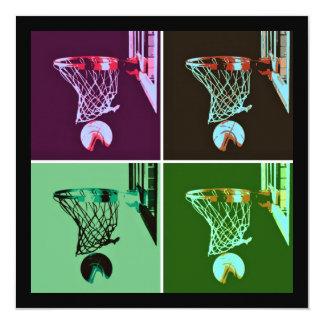 Pop Art Basketball Invitation