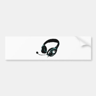 Pop Art Headphone Bumper Sticker