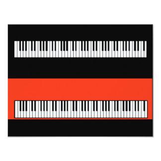 Pop Art Keys Keyboard Piano Blank Invitations