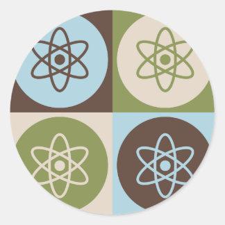 Pop Art Nuclear Physics Round Sticker