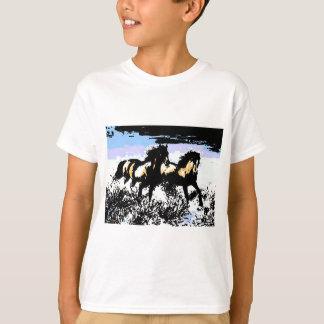 Pop Art Running Horses T Shirts