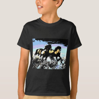 Pop Art Running Horses Tee Shirts