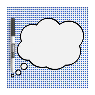 Pop Art Thought Bubble Dry Erase Board