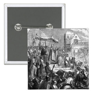 Pope Urban II  Preaching the First Crusade 15 Cm Square Badge