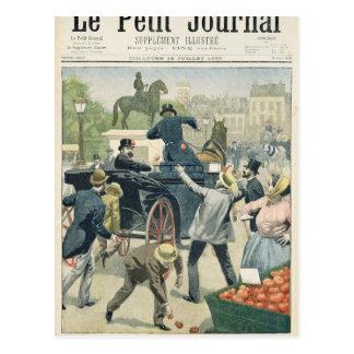 Popular protest against Joseph Reinach Postcard