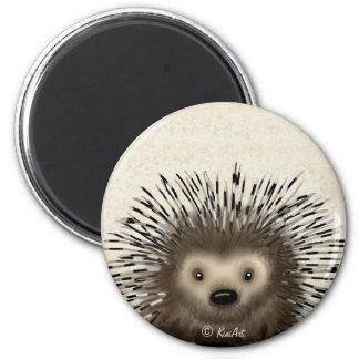 Porcupine 6 Cm Round Magnet