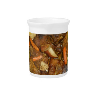 pork carrots potatoes oven baked food design drink pitcher