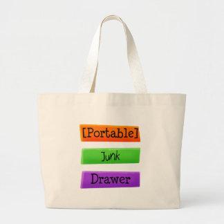 Portable Junk Drawer Jumbo Tote Bag