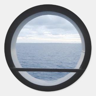 Porthole View Round Sticker
